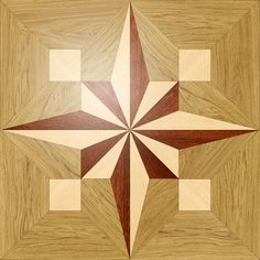 Larger image for PMX13 In Wood Medallions - part of Czar Floors collection of unique decorative flooring products.
