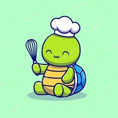 Cute Turtle Cartoon, Cute Cartoon Animals, Cute Animals, Tropical Animals, Colorful Animals, Cute Tortoise, Funny Cartoon Characters, Amor Animal, Cute Turtles
