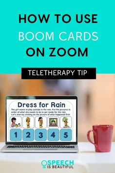 Teletherapy tips for SLPs - Using Boom cards in speech teletherapy is fun and easy! In this video, I go over a demonstration of how I use Boom Cards on Zoom in teletherapy. - Speech is Beautiful