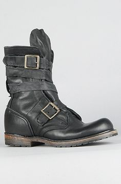 The MADE IN THE USA Issac Boot in Black Harness by Vintage Shoe Company U.S.A.