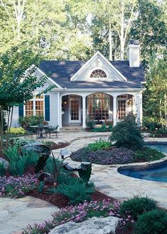 small house and beautiful backyard