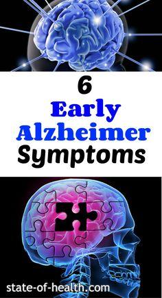6 Early Symptoms of Alzheimer's disease
