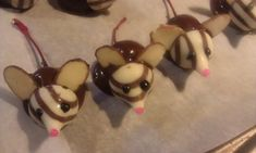 Tiny Edible Chocolate Cherry Mice