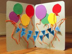 Need easy DIY birthday card ideas or free printables Birthdays? Cool homemade cards to make for Mom or Dad, kids & adults, husband, wife or friends. Homemade Birthday Cards, Dad Birthday Card, Birthday Crafts, Happy Birthday Cards, Birthday Cards For Kids, Birthday Ideas, Grandma Birthday, Bday Cards, Special Birthday