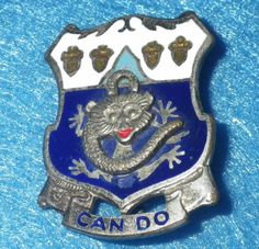 Original WWII US Army 15th Infantry DI/DUI/Unit Crest Pinback - PB, German-made