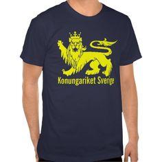SWEDEN-LION, Konungariket Sverige T Shirts