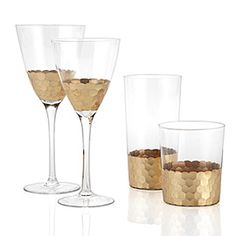 Chisel Glassware - Set of 4 Gold    Double Old Fashion - Set of 4	$35.80 	  Highball - Set of 4	$39.80 	  Red Wine - Set of 4	$39.80 	  White Wine - Set of 4	$35.80