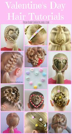 15+ Valentine's Day Hair Tutorials from BabesInHairland.com - Perfect for your little girl or yourself! #valentinesday #hearts #hair #love #valentines #hairstyles