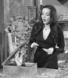 Carolyn Jones - Morticia Addams and Thing