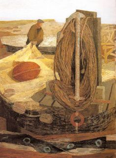 Nets & Anchor by Prunella Clough (British 1919-1999)