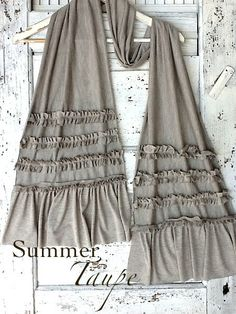 Rustic+Ruffled+French+Cotton+Knit+Scarf++Raw+by+CamillaCotton,+$39.00