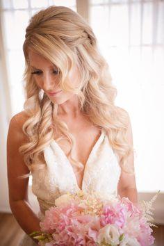 Wedding Hair   Read More: http://www.stylemepretty.com/california-weddings/san-clemente/2013/11/08/casa-romantica-san-clemente-wedding-from-dapper-images/