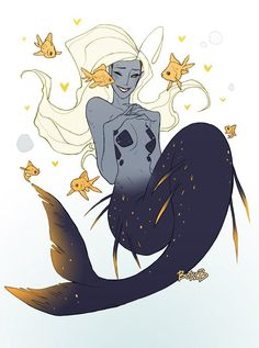 Twitter mermay art mermaid