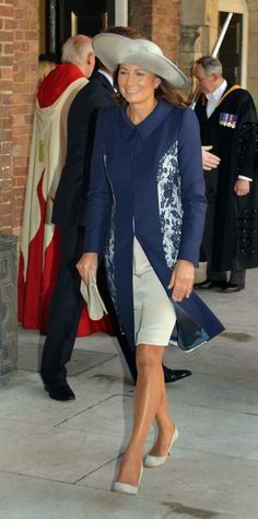 Mrs. Middleton attends the christening of her grandson Prince George at St. James Palace 10/23/2013