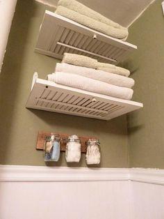 shuttters as shelves