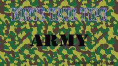 Fonte True Type - Army -   Bait69blogspot