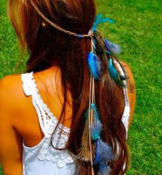 Put a feather in your hair to make your thoughts a little lighter.