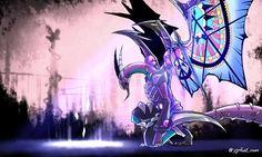 Tweets de Media par [DA/N06]쿤 (@ygofarl_coon) | Twitter Fantasy Monster, Monster Art, Mythical Creatures Art, Fantasy Creatures, Fan Anime, Anime Art, Dragon Family, Yugioh Yami, Yugioh Monsters