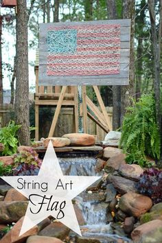Rustic String Art Fl