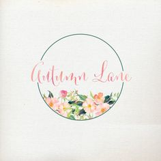 Premade Logo Design Watercolor Flower Logo par AutumnLanePaperie
