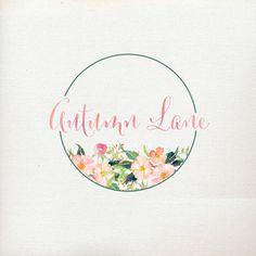 Premade Logo Design Watercolor Flower Logo par AutumnLanePaperie