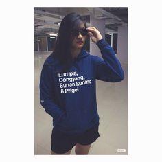 Pullover hoodie navy blue by PRIGEL #indonesia #fashion #model #hoodie