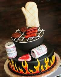 This cake is for barbeque masters! And of course, for barbeque lovers!!!!