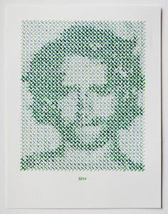 The Portrait Project | Evelin Kasikov – CMYK embroidery and Typographic Design – London