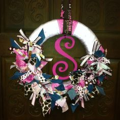 Baby wreath, door hanger