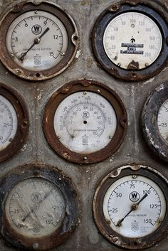 Philly power station. Old Dials.