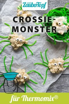 Diese lustige Kreaturen mit tollem Geschmack sorgen garantiert für Staunen bei euren Kids. Leckere Crossies Monster aus dem Thermomix® findet ihr hier. Monster Party, Fingerfood Party, Snacks Für Party, Diy Food, Halloween Party, Spooky Food, Biscuits, New Years Eve Food, Halloween Parties