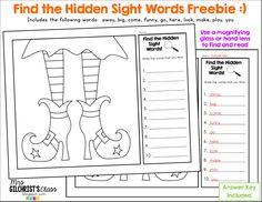 Halloween!  Halloween Sight Words FREEBIE and Games for Sight Words, CVC Words and CVCe Words!