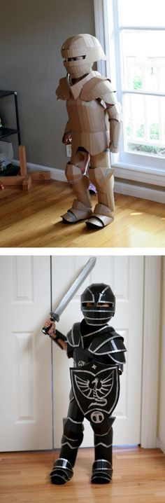 Cardboard knight costume | cardboard crafts | costumes for kids