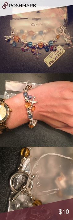 Paulus World Traveler Charm Bracelet NWT. Made by Paulus. World traveler themed charms include luggage, plane, and Eiffel Tower ❕ Perfect for gift giving or casual wear❣                               ❕TOP RATED SELLER❕                 FAST SHIPPING‼️                Quick Responses!                Bundle to save 10%! Paulus Jewelry Bracelets