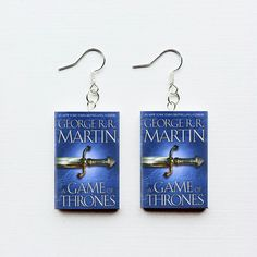Excited to share the latest addition to my #etsy shop: Game of Thrones mini book earrings #jewelry #earrings #christmasgift #tyrion #rainsofcastamere #daenerys #jonsnow #lannister #stark http://etsy.me/2j2BqCo