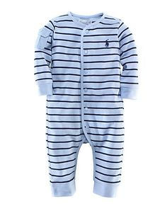 Ralph Lauren Childrenswear Infant Boys' Striped Coverall - Sizes 3-9 Months - Newborn (0-9 months) - BABY - Kids - Bloomingdale's