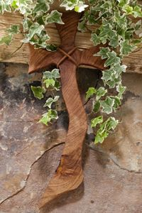 Large Jagged Mesquite Wood Wall Cross - Remind yourself that you are oneofakind with this lovely freeform mesquite wood wall cross.