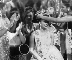 Aishwarya Rai - When she received her 'Miss World' Crown in 1994 and in 2000 was voted the 'Most Beautiful Miss World' of all time!