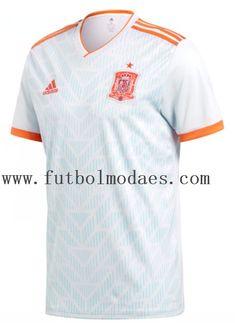 95d62d165 Espana 2018 copa de mundia blanco camiseta y shorts