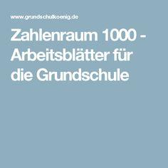 Zahlenraum 1000 - Arbeitsblätter für die Grundschule