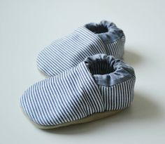 Buy Now Classic Denim striped baby shoesblue and whiterailroad...
