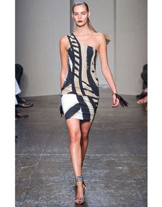 fantastic for a summer cocktail party - and hits two of springs trends - tribal and one shoulder