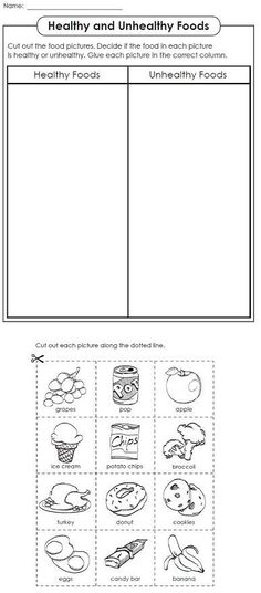 Free food groups printable nutrition education worksheet- Kids learn ...