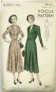 Vintage Midi Dresses, Vintage Skirt, 1940s Fashion, Vintage Fashion, Classic Fashion, Women's Fashion, 1940s Outfits, Vintage Outfits, Vintage Vogue Patterns