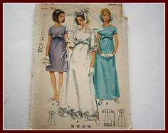 1960s  60s Vintage Wedding Dress Bridal by VintagePatternsDepot