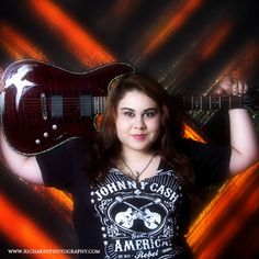 Portrait Studios San Antonio - High School Photography of Girl Holding Guitar.