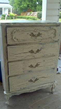 crackled and distressed chest