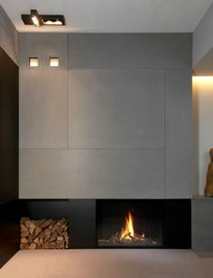 #modern architecture - fireplace - metalfire - unique - gas-burning closed fireplace Like, pin, Share -)