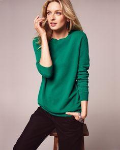 Cashmere Boyfriend Sweater... love. this. color!