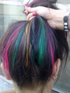 I would love to do this in small sections to the underside of my hair.
